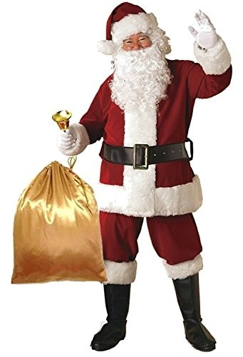 Plush Adult Costume ADOMI Santa Suit 10pc