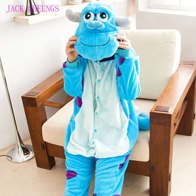 2606dbb480f3 Kigurumi monster Sulley Sullivan adult onesies Pyjamas Cartoon animal  costume Pajamas Unisex