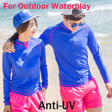 Anti-UV Rash Guard Swimwear ◆ Long Sleeves Sun Protection Surfing Quick Dry Jacket for Women and Men