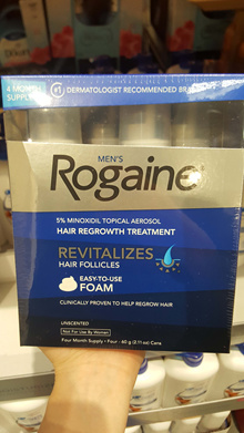 rogaine extra strength hair regrowth for men 4pk