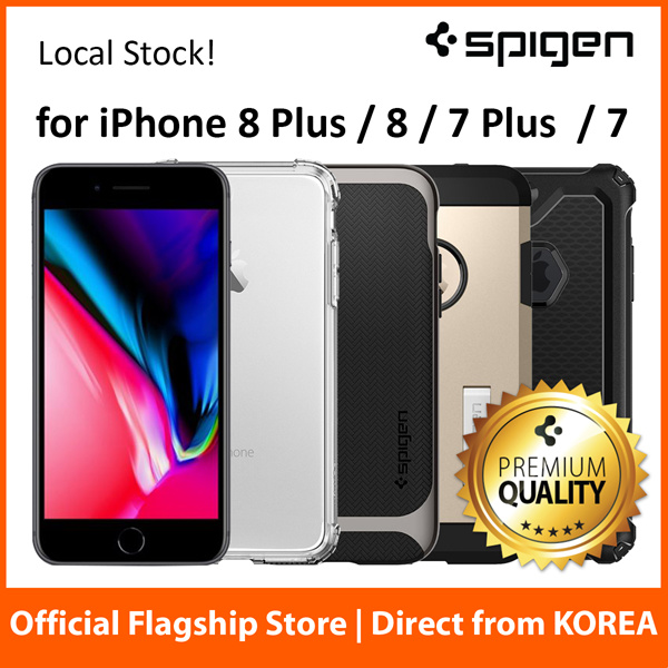 Spigen iPhone 8 / 8 Plus Case iPhone 7 / 7 Plus Casing Cover Screen Protector Fast Free Delivery Deals for only S$49 instead of S$0