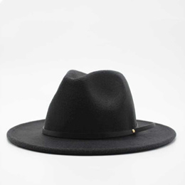 aca7262eb0b280 authentic Wool Fedora Hat Hawkins Felt Cap Wide Brim Ladies Trilby Chapeu  Feminino Hat Women Men