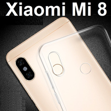 ★ Xiaomi Mi 8 Transparent Crystal Clear Case Casing Cover / Tempered Glass Screen Protector