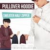 New! Men Hoodie And Sweater Half Zipper / 2 Models / 3 Color / Good Quality / Jaket Pria / Baju Pria