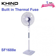 Khind 16 Stand Fan SF1688E High Air Delivery - 1 Year Warranty