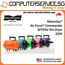 MetroVac Air Force Commander AFTD3 Variable Speed Pet Dryer 220V (Made In U.S.A.)
