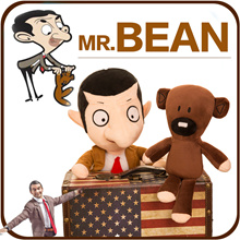 Cute Kawaii Mr Bean Teddy Bear Plush Toy Mr Doll Mr.Bean Toys For Children Birthday Present Gift Knu