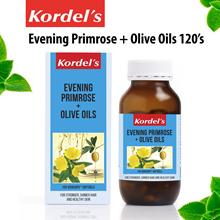 Kordels Evening Primrose Oil + Olive Oil 120 Vege Caps [1~2 Softgels/Day]