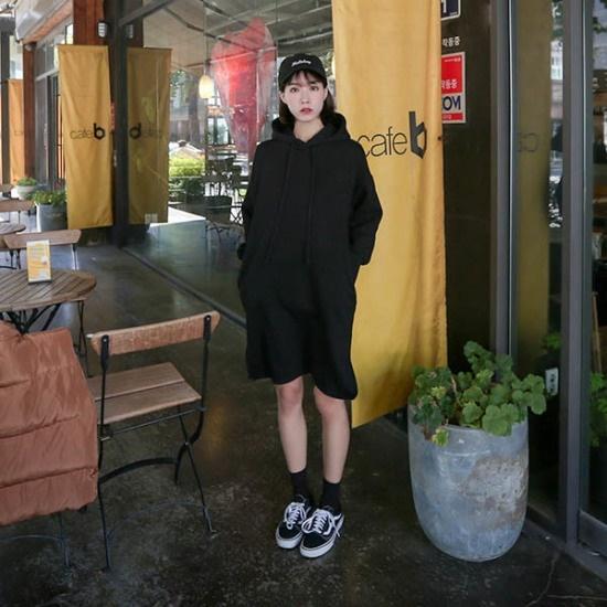 イルチルサのコラムキス起毛フード開けたこと、ワンピース 綿ワンピース/ 韓国ファッション