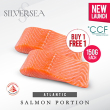 [Silversea] 1 DAY SALE 📢 1+1 Atlantic Salmon Portion 150G each / Healthier Choice and Tasty Singapore Certified!