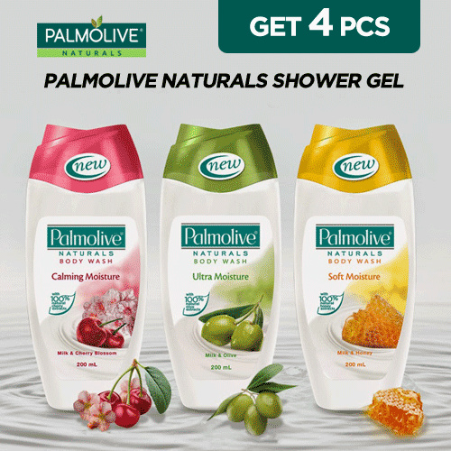 [4x750ml] Palmolive NATURALS Shower Gel Mix-n-Match Deals for only Rp110.000 instead of Rp110.000