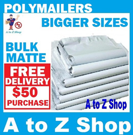 [BULK BUY] MATTE WHITE Plastic Mailer Courier Packaging  Poly  Bags Courier Mailing Bag Polymailer