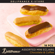 Delifrance Bundle of 18 Assorted Mini Eclairs