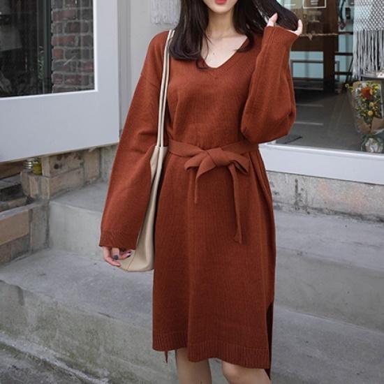 ミミ・アンド・ディディnorman ops5139 ニット・ワンピース/ 韓国ファッション