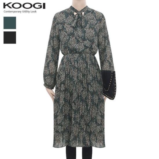 釘宮かすみ草しわワンピースKK3OP3177A プリントのワンピース/ 韓国ファッション