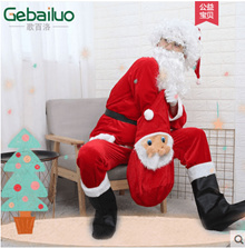 Santa Claus costume adult gold velvet Christmas costume old man show costumes