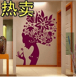 1-040 Flowers Wall Stickers Personalized flying elves strong fashion figure sticker stickers bedroom