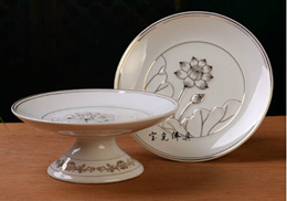 New ceramic plate for fruit buddha table plate/7inch/8inch
