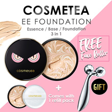 💎[COSMETEA]💎EE CREAM FOUNDATION PACT ♥ FREE 4D FACE LIFTING ROLLER ♥ SPF50+ PA+++ (12g+Refill)