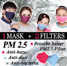 [1 MASK INCLUDES 2 FILTERS] HEALTHY MASK 😷 PM2.5 FILTER | ANTI-HAZE | DUST | BACTERIA | POLLUTION