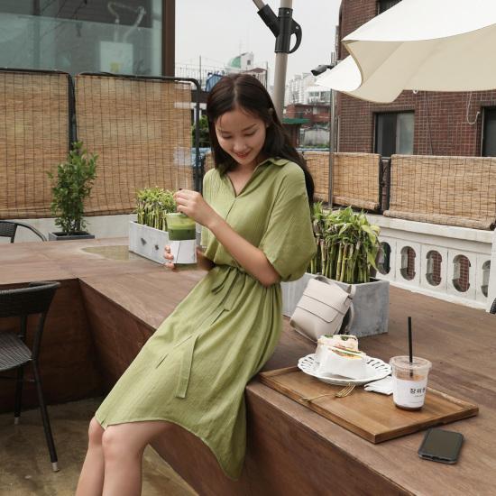 チェリーココcheat codes、opsC707PROP68シャツ、ワンピースロングカジュアルカラー 面ワンピース/ 韓国ファッション
