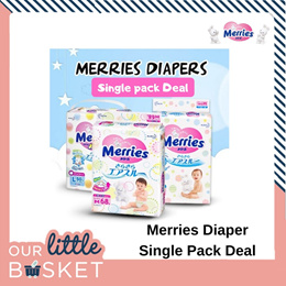 MIX AND MATCH MERRIES SINGLE GIANT PACK MADE IN JAPAN DIAPERS