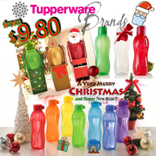 TUPPERWARE XMAS GIFT IDEAs Water Bottle 310ml 500ml 750ml 900ml 1000ml 2L Aquasafe Fliptop Screw Cap
