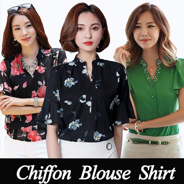new shirt/Chiffon Top/Work shirt/Lapel tops/office//Comfortable/dress/Chiffon Blouse Deals for only S$10 instead of S$0