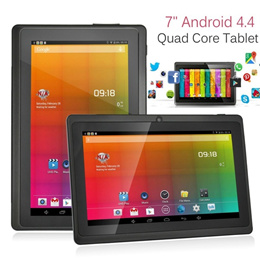 7inch Android 4.4 Black Tablet PC Allwinner A33 Quad Core HD Touch Screen Dual Camera Wifi Bluetooth