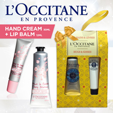 Best-seller* LOccitane Hand Cream 30ml + Lip Balm 12ml Set