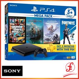SONY PS4 ASIA-00370 PLAYSTATION 4 SLIM MEGA PACK 2 BUNDLE PACK (1TB) (PS4) Party Bundle 2019