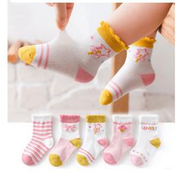 袜子 /  10双 儿童袜子春夏薄款纯中筒网眼袜宝宝袜