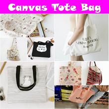 01 Daily Deal Canvas Tote Bag Hand Shoulder Sling Recycled Cotton Women Unisex Travel Tour Storage