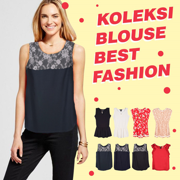 New Collection Branded Women Blouse Deals for only Rp55.000 instead of Rp55.000