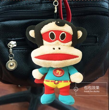 Mouth monkey doll car pendant car keychain key chain ring male couple  jewelry bag lady