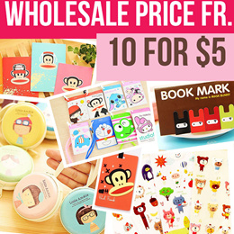 WHOLESALE [10-set fr $5 ONLY] Cartoon Fancy Stationery/ Lanyard/ Cardholder/ Stickers/ Cord Winders