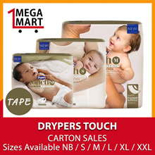 [Free 40s Baby Wipes!][Free Shipping] Drypers Touch Premium Baby Diapers Carton Sales
