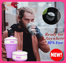 💥Collapsible Travel Cup✮ BPA Free✮Travel Essentials✮ Portable Cup✮Foldable Silicon Cup✮Water bottle