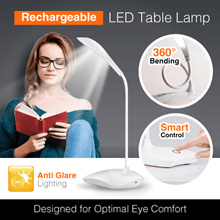 Rechargeable LED Table Lamp Eye Protection Desk Light  Portable 3 Level Brightness USB Charging