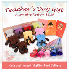 Teachers Day Gift from $1.20 ❤ Roses ❤ Cute Dog Towel ❤ Manicure Set ❤ Bookmark ❤