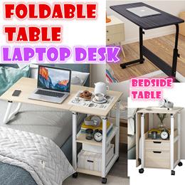 Foldable Laptop Table Study Desk Bedside Bed Sofa Portable Computer Desk/Height Adjustable