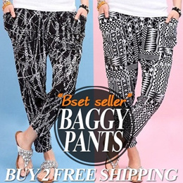 ★Get 10% OFF for Every $10 Purchase★BUY 2 FREE SHIPPING!!/BIG SALE!!/BAGGY PANTS/COOL BAGGY PANTS/Harem Pants/training pants/Long pants/New arrival/ Sale/Cool material/women fashion/denim