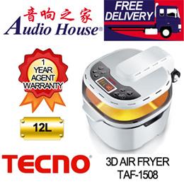 TECNO TAF 1508/1360W/3D AIR FRYER/12L/HALOGEN HEATER