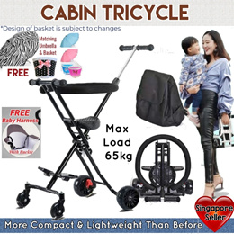 Cabin Tricycle Portable Stroller Light Weight Foldable Tricycle (Local Seller)