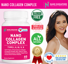 NANO COLLAGEN COMPLEX [60 Caps] 1000mg Premium Collagen ♥ Protein Complex ♥Healthy Skin Nails Joints