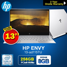 HP ENVY 13-ad115TU Notebook 1.23KG!!!( 8th Gen Intel i5-8250U 8GB 256GB  PCIe)  LIGHTER Model|