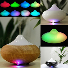 Excelvan Aroma Diffuser Ultrasonic Humidifier Air Mist Aromatherapy Purifier Light Woodgrain GX-02K