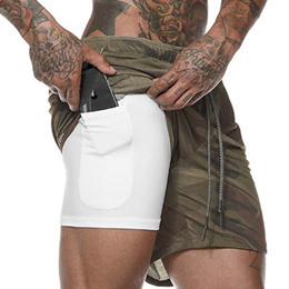 a9d96ab2f1747 2019 NEW INNER TIGHTS STORAGE COMPARTMENT MOBILE LYCRA BERMUDA GYM SHORTS