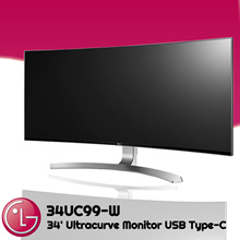 LG Monitor [34UC99-W] Ultracurve Monitor USB Type-C Display+Charge 34 Inch 3 Years Warranty
