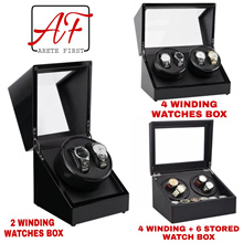 Premium Automatic Watch Winder ♤ Winding Watches Box after Storage ♤ Comes with Singapore Power Plug